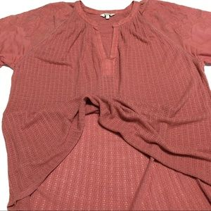 Lucky Brand Tops - Lucky Brand top Size Large dusty rose short sleeve